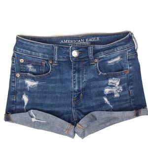 ♡ 5/$25 ♡ American Eagle Distressed Hi-Rise Shorts